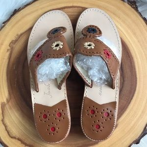 Jack Rogers Shoes - Jack Rogers leather flip flops LIKE NEW